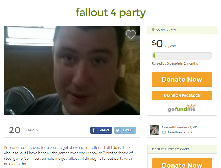 fallout 4 party gofundme