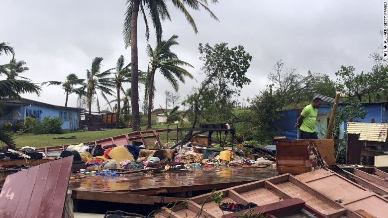 Ravages of Tropical Cyclone Winston in Fiji: photo credit CNN