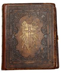 A large, leather-bound family Bible such as this one is perfect for smacking your homemade homeopathic remedies against. Photo credit - JFK Library