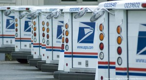 post office trucks. photo credit USPS