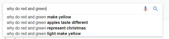 Google: why do red and green...