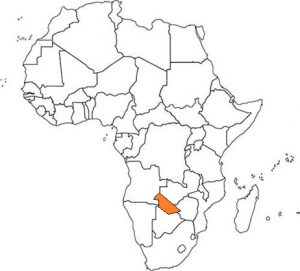 Nambia's location on map